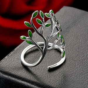 """""""Tree Hope of Life"""" 100% Sterling Silver CZ Ring"""